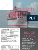 Documents Commonly Used in Carriage of Goods