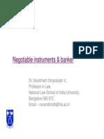 Negotiable Instrument Banking-Dec14