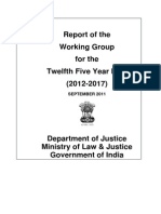 Report and Recommendations of the Working Group Department of Justice, 12th Five Year Plan
