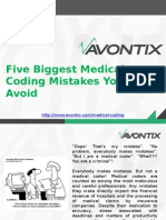 Five Biggest Medical Coding Mistakes You Can Avoid