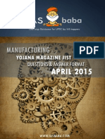 IASbaba Yojana Jist April 2015 Manufacturing