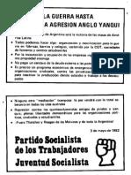 1982 - Volantes Del PST Malvinas