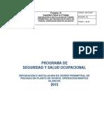 Programa de Seguridad y Salud Ocupacional Noli 2015 Mants Blancos