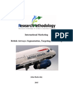 British Airways Segmentation, Targeting, Positioning