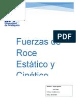 Fuerzas de Roce y Estaticas 2