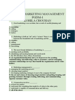 Marketing Management MCQ