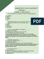 Marketing Management MCQ