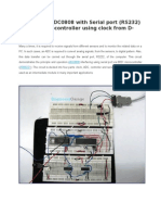 36 Interfacing Adc0808 With Serial Port Rs232 8051 Microcontroller Using Clock From d Flip Flop