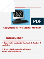 Copyright in the Digital Medium