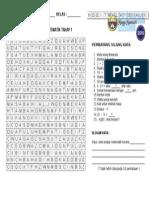 MINGGU MATHS 2015 Teka Silang Kata Mathematik Tahap 1