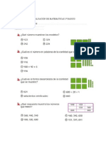 Evaluación de Matemáticas 3