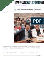 Una Posible Alternativa Al Plan Negociado en Bruselas entre Alexis Tsipras y los acredores Por Tsipras