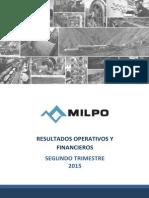 Informe de Gerencia Milpo 2t2015