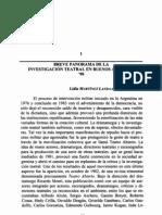 Breve Panorama de la Investigación Teatral en Buenos Aires del 90