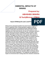 Environmental Impacts of Mining(Abhishek Mishra)