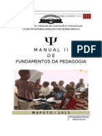 Manual de Fundamentos Da Pedagogia