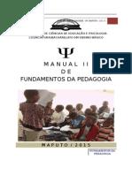 Manual de Fundamentos Da Pedagogia
