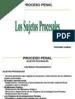 Los Sujetos Procesales Ponencia Laminas