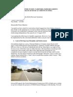 Open Letter to Hon. Narendra Modi, Prime Minister of India regarding road accidents in India