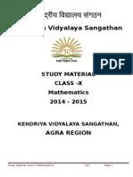 Maths - SA-1 - Class X