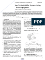 Optimum Design of on Grid Pv System Using Tracking System