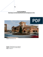 Book Report de Professional Real Estate Development, by ULI.