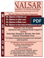 Admission Notification 2014
