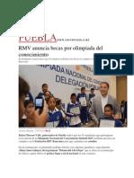 27-07-2015 El Universal - RMV Anuncia Becas Por Olimpiada Del Conocimiento