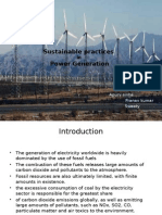 Sustainable Practices Followed in Power Generation