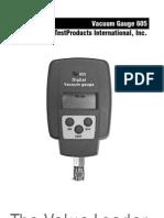 Vacuometro 605 Manual