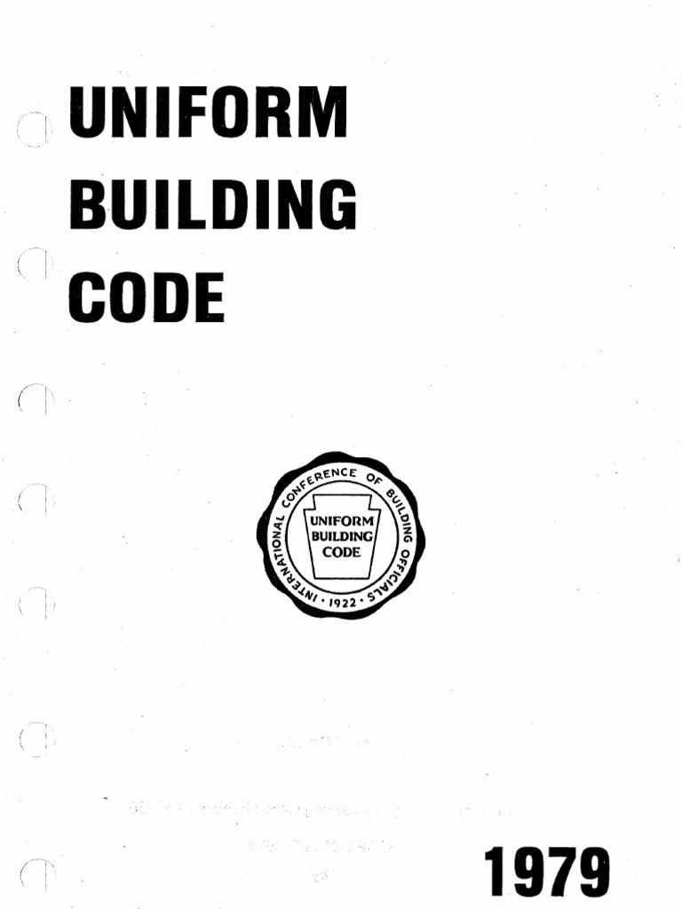 The Uniform Building Code 40