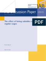 The Effect of Hiring Subsidies on Wages