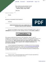 Looney v. Regional Transportation District - Document No. 7