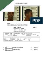 Javaris Chambers arrest