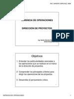 06 Gerencia de Operaciones - Dirección de Proyectos