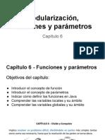 Modularización, Funciones y Parámetros  java