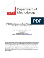 Text Mining Conference Programme 2014 Final