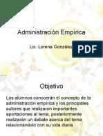 Administración Empírica (Clase 1)