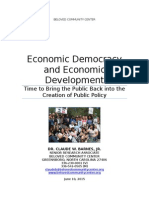 Economic Democracy and Economic Development  Discussion Paper Ver ^N 4.1 11-4-13