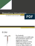 Dispositivos intrauterinos.