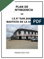 Plan de Seguridad Iep San Juan Bautista La Salle Corregido