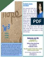 W3 July Flyer