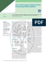 Guia de Sociedad Europea Gastrointestinal Preparacion de Colon 2013