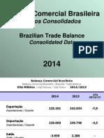 Balança Comercial Brasileira Dados 2014