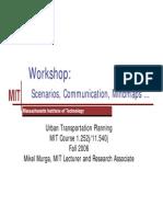 Transportation Planning - Workshop by MIT