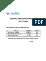 Contratacion Cas Ugel Coordinador de Innovacion y Sop Tecnolog