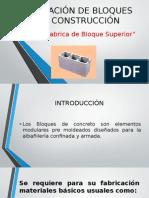 Elaboración de Bloques Para Construcción