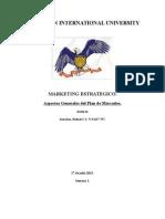 Aspectos Generales Del Plan de Mercadeo Rafael Sanchez CI 9437737