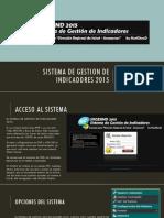Sistema de Gestion de Indicadores 2015