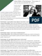 Entrevista de Jacques-Alain Miller à Psychologies